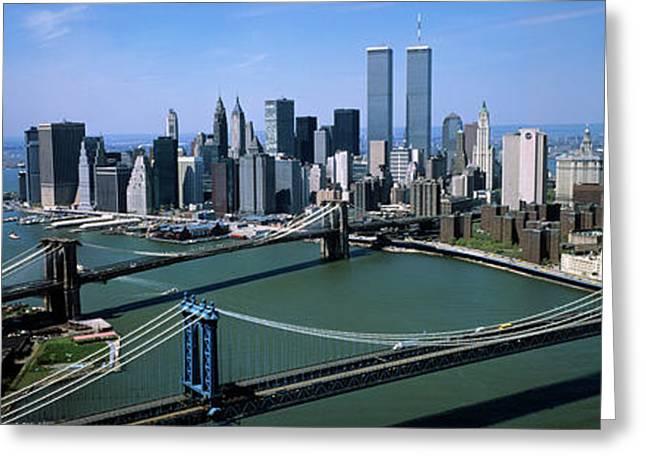 Skyline Showing World Trade Center Greeting Card