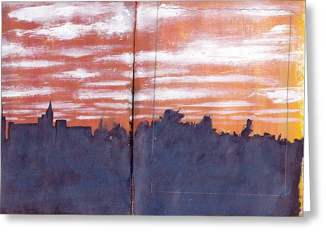 Skyline Sunset Greeting Card by Chad Brown