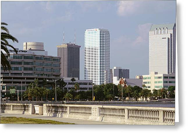 Skyline Tampa Fl Usa Greeting Card by Panoramic Images