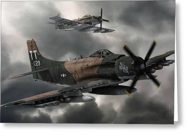 Skyraiders Greeting Card by Dale Jackson