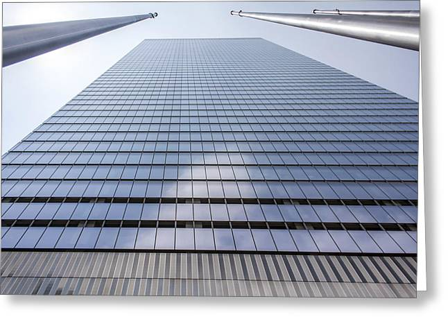 Skyscraper In New York Greeting Card by Rostislav Bychkov