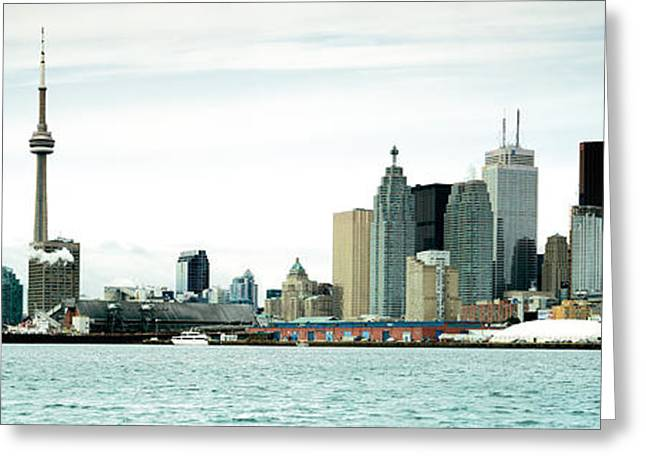 Skyscrapers At The Waterfront, Cn Greeting Card by Panoramic Images