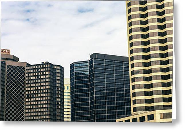Skyscrapers In A City, Hyatt Regency Greeting Card by Panoramic Images