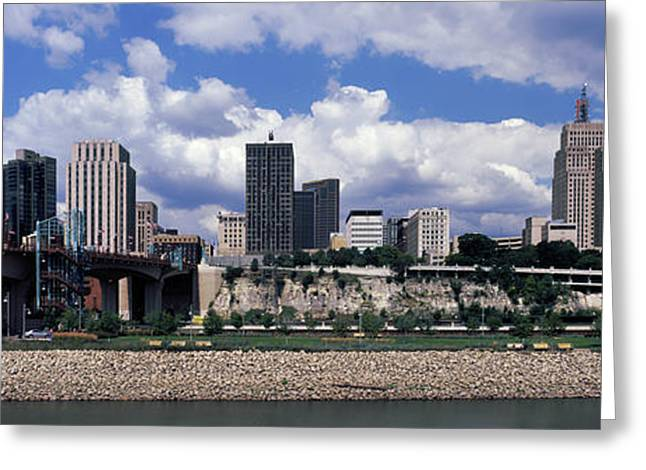 Skyscrapers In A City, Mississippi Greeting Card by Panoramic Images