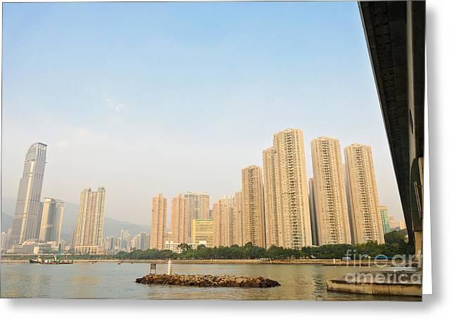 Skyscrapers In Hong Kong Greeting Card