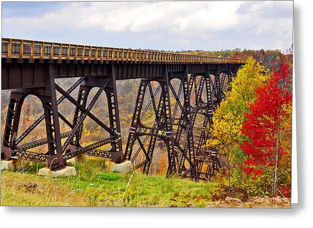 Skywalk Kinzua Bridge State Park Mckean County Pennsylvania Greeting Card by A Gurmankin