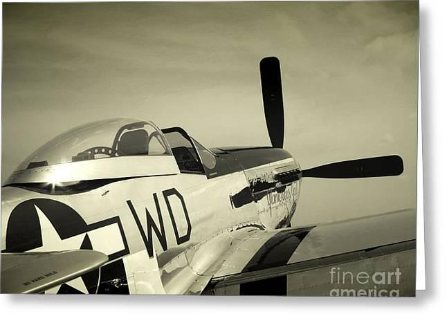 Skyward P-51 Greeting Card