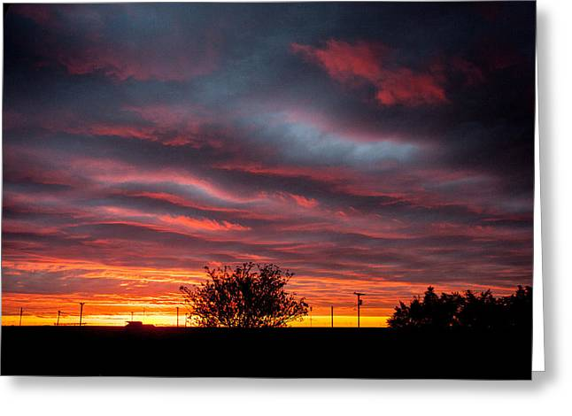 Greeting Card featuring the photograph Skywaves In Pink by Shirley Heier