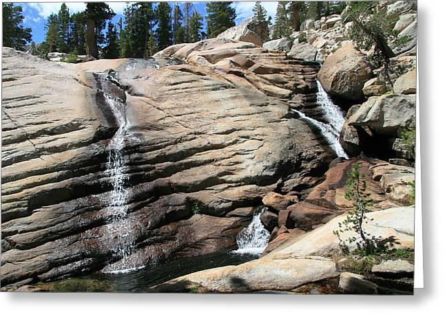 Slab Waterfalls Greeting Card