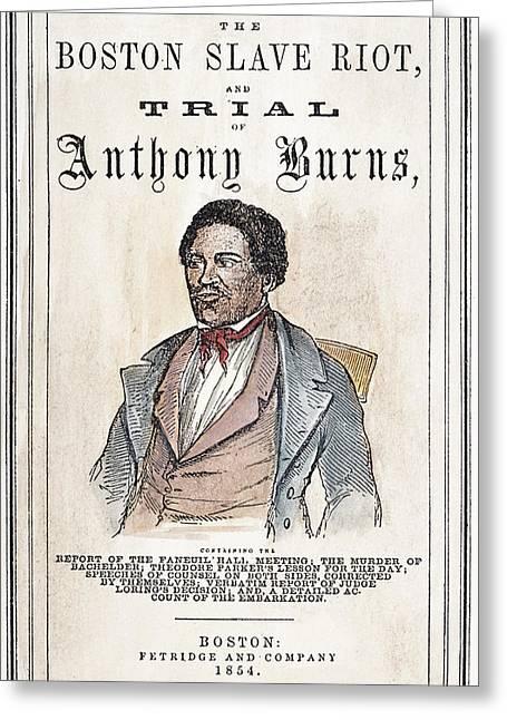 Slave Fugitive Law, 1854 Greeting Card