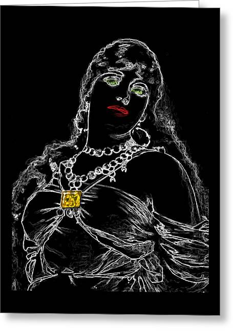 Slave Girl One Man Ray Homage Greeting Card by Brian King