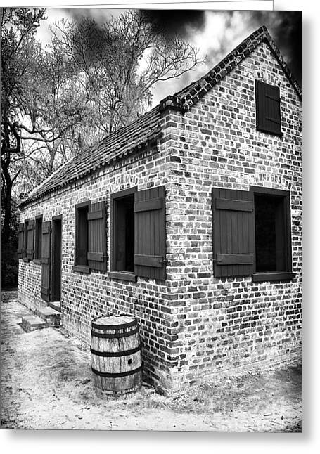 Slave House Greeting Card by John Rizzuto