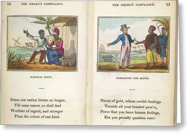 Slaves Being Traded Greeting Card
