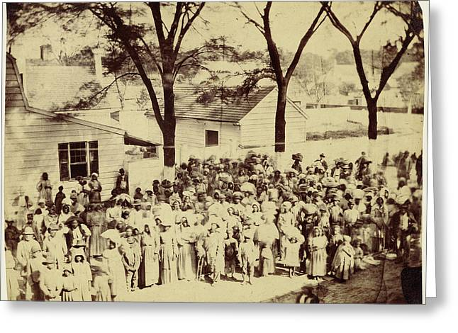 Slaves, J. J. Smiths Plantation, Near Beaufort Greeting Card by Litz Collection