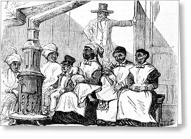 Slaves Waiting To Be Sold, Virginia Greeting Card by Wellcome Images