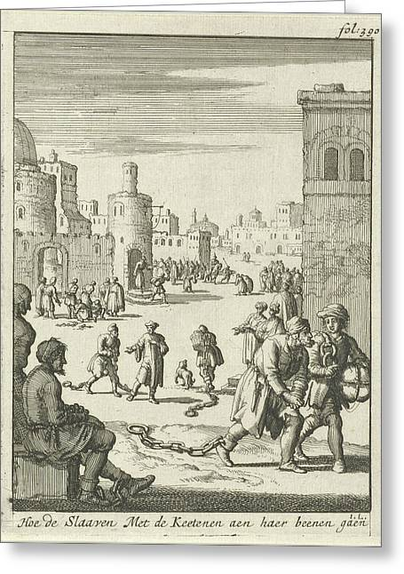Slaves Walk With Chains On Their Ankles, Jan Luyken Greeting Card