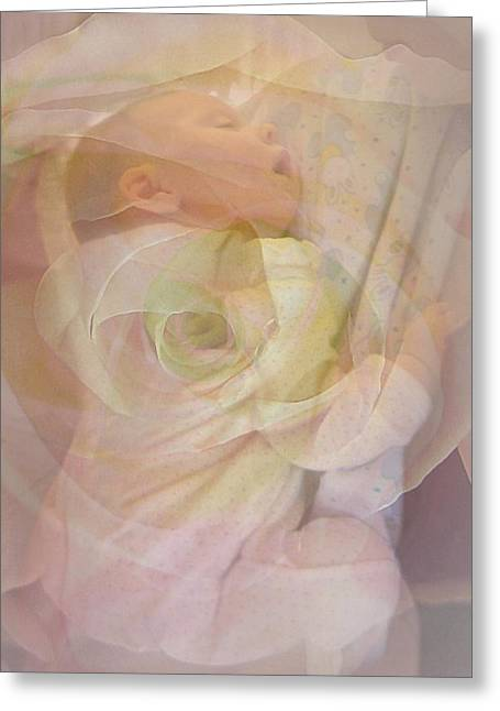 Sleep My Baby Greeting Card by Shirley Sirois