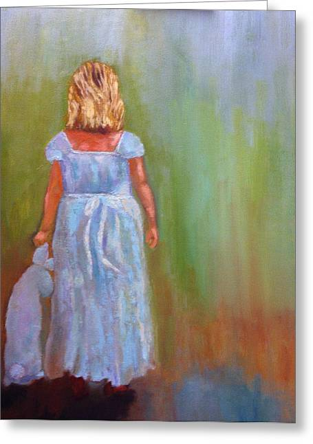 Into The Blue Greeting Card by Marie Hamby