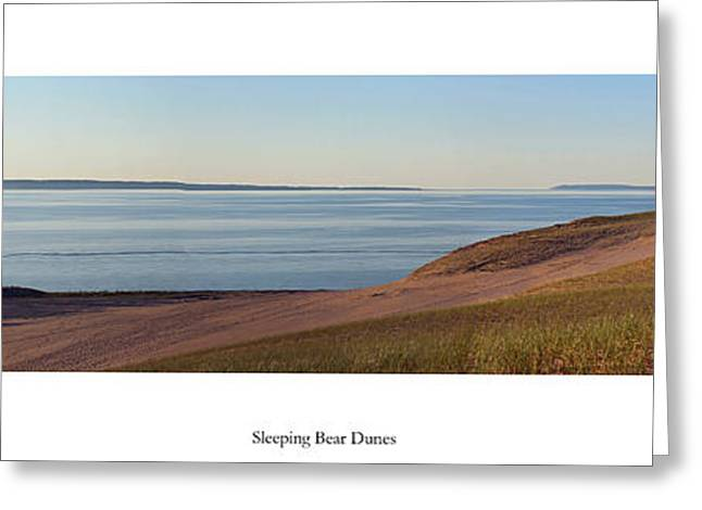 Sleeping Bear Dunes And Manitou Island Greeting Card by Twenty Two North Photography