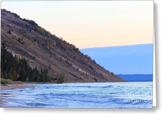 Sleeping Bear Dunes And Waves Of Lake Michigan Beauty Greeting Card