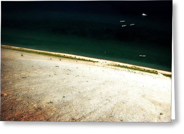 Sleeping Bear Dunes From The Top Down Greeting Card