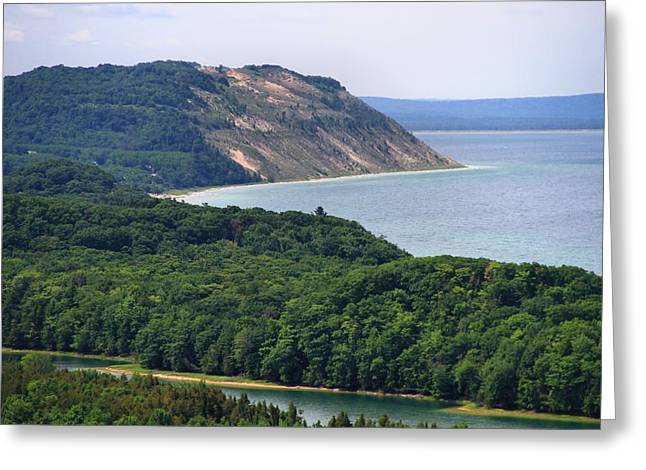 Sleeping Bear Dunes Vista Greeting Card by Dan Sproul