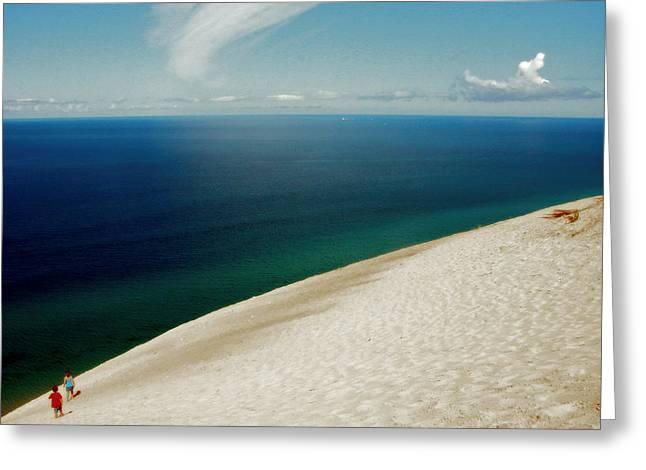 Sleeping Bear Dunes Vista Greeting Card