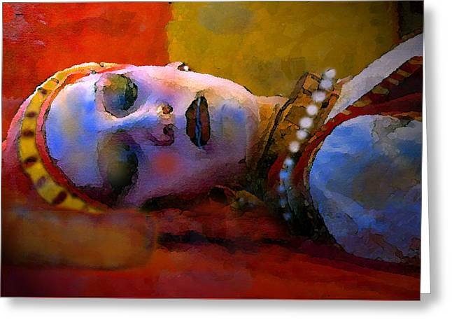 Sleeping Beauty In Waiting Greeting Card by David Lee Thompson