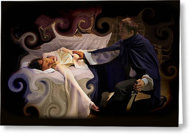 Sleeping Beauty And Prince Greeting Card by Angela Castillo