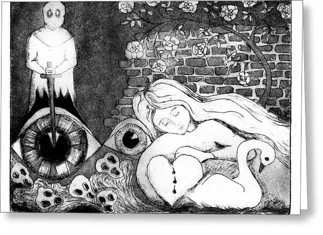 Sleeping Beauty Greeting Card by Gun Legler