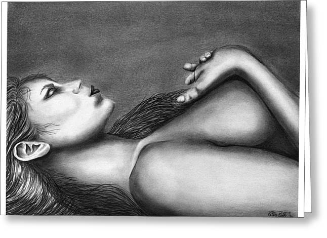 Sleeping Beauty  Greeting Card by Peter Piatt