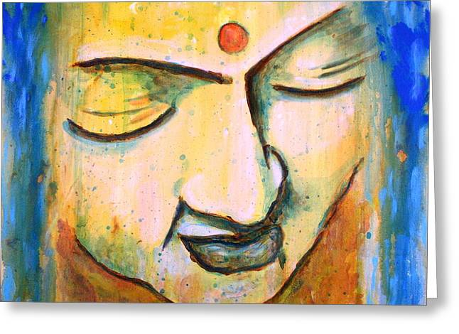 Sleeping Buddha Head Greeting Card