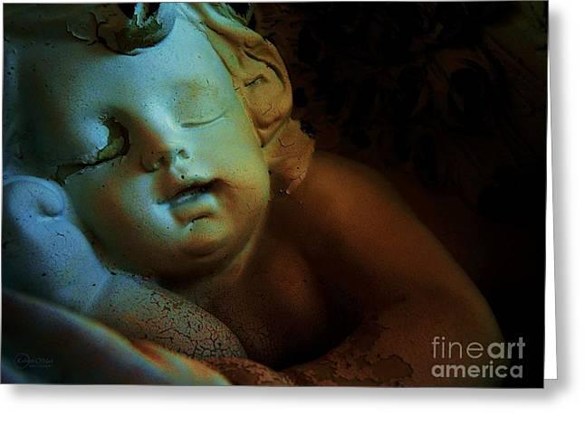Sleeping Cherub #1 Greeting Card by Robert ONeil