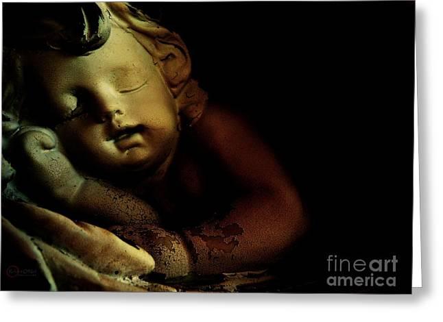 Sleeping Cherub #2 Greeting Card by Robert ONeil
