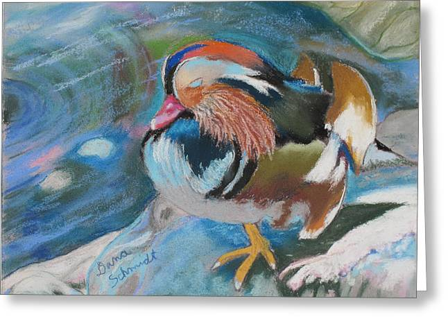 Sleeping Mandarin Duck Greeting Card