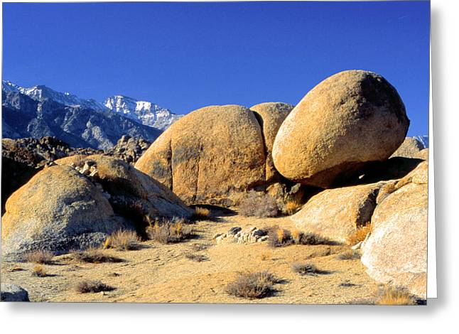 Sleeping Rock Alabama Hills Greeting Card