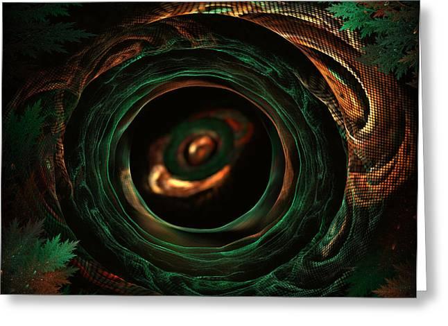 Sleeping Snake Greeting Card by Radoslav Nedelchev