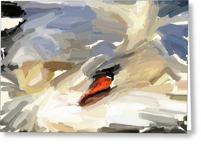 Sleeping Swan Greeting Card