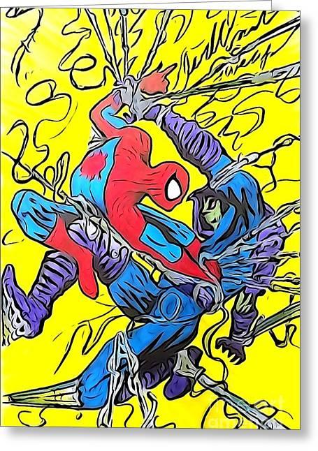 Sleepwalker 7 Greeting Card by Justin Moore