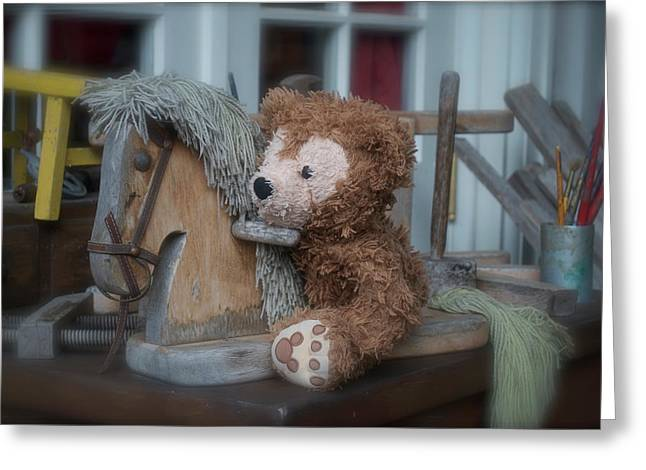 Greeting Card featuring the photograph Sleepy Cowboy Bear by Thomas Woolworth
