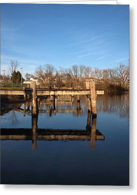 Sleepy Docks Greeting Card by Joshua House
