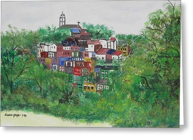 Sleepy Little Village Greeting Card