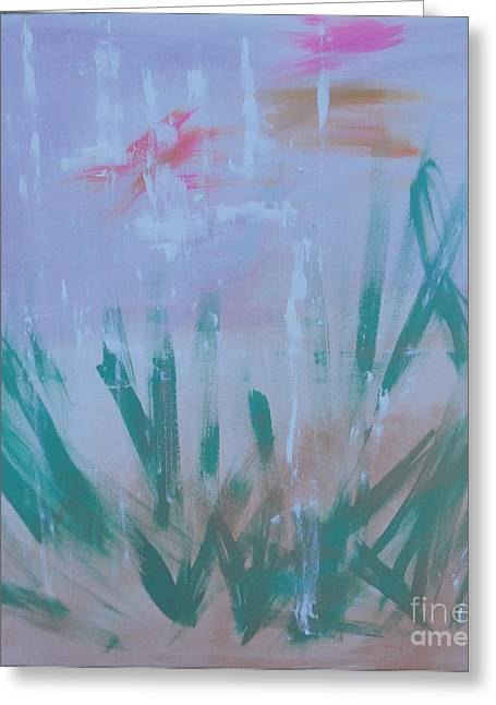 Greeting Card featuring the painting Sleepy Pond by PainterArtist FIN