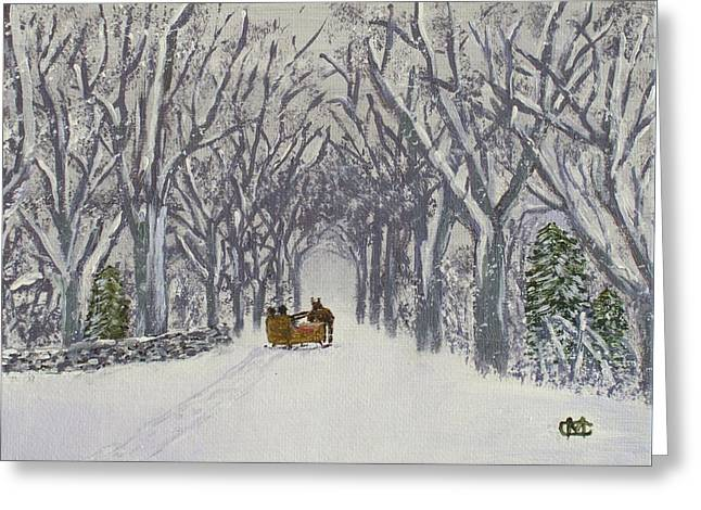 Sleigh Ride Through Time Greeting Card