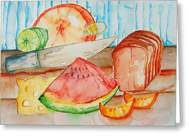 Slice It Greeting Card by Elaine Duras