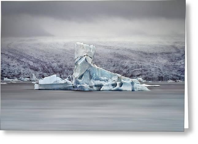 Slice Of Ice Greeting Card by Evelina Kremsdorf