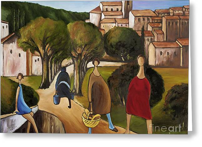 Slice Of Life 2 Provence Greeting Card by William Cain