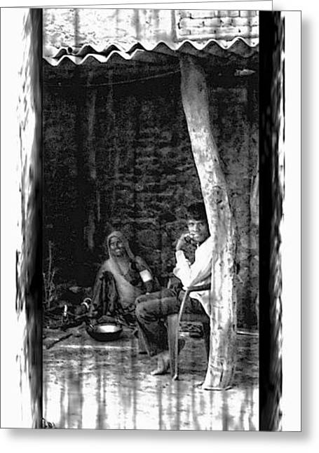 Slice Of Life Mud Oven Chulha Tandoor Indian Village Rajasthani 1d Greeting Card