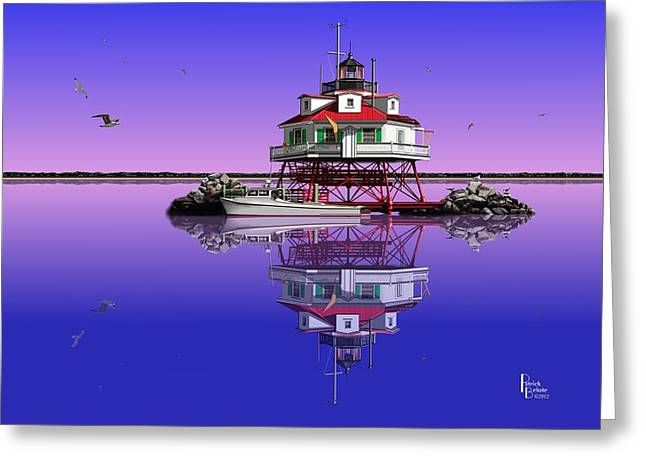 Slick Cam At Thomas Point Greeting Card by Patrick Belote