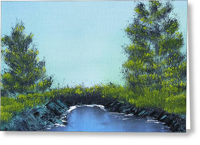 Greeting Card featuring the painting Slickrock Pond by Jennifer Muller